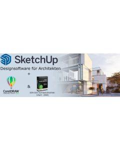 Bundle - CorelDRAW 2021 Abo + SketchUp Pro Abo + GRATIS Symbolbibliothek